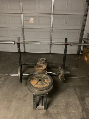 Bench press/weights/pull up stand for Sale in Tolleson, AZ