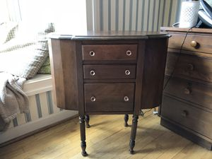 Antique Sewing/knitting storage console, solid mahogany. for Sale in Gambrills, MD