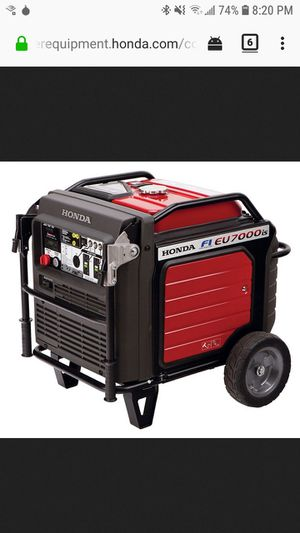Honda EU7000IS Portable Inverter Generator — 7000 Surge Watts, 5500 Rated Watts, Electric Start, CARB-Compliant, Model# EU7000IS for Sale in Miami, FL