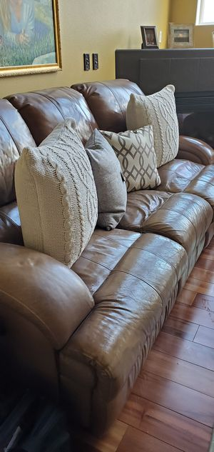 Power Reclining Sofa with Love Seat for Sale in Puyallup, WA