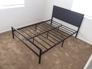 Metal Full Bed Frame with Headboard, #7577F for Sale in Downey, CA