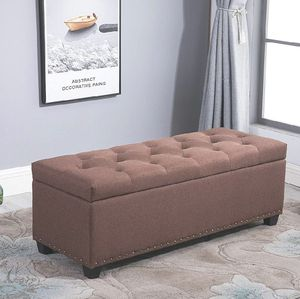Brand New Brown Fabric Ottoman with Storage for Sale in Glendale, AZ