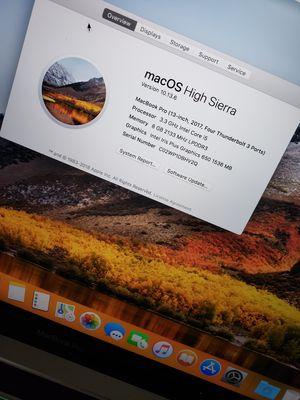 Macbook pro 13inch 2017 touchbar 500ssd storage for Sale in Plantation, FL