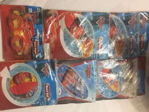 Pixar car floats and goggles for Sale in Azle, TX