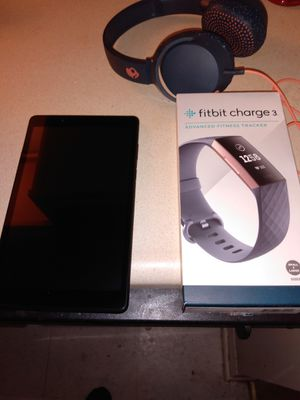 Fitbit,Lenovo tablet 7, 💀 candy headsets for Sale in LUTHVLE TIMON, MD