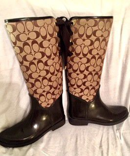 Coach rain boots size 8 for Sale in Erie, PA