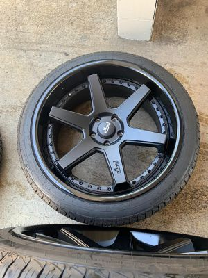 22x10 Niche M192 Altair 6x5.5/6x139.7 25 Black Wheels Rims Set(4) for Sale in Lawrence, MA