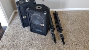 Yamaha SM10V Pro Audio speakers and stands for Sale in Wildwood, MO