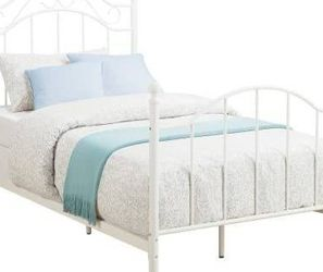 Brand New Mainstays Kids Twin Metal Bed New in Box (White) for Sale in Las Vegas,  NV