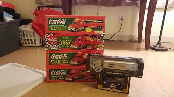Coca cola and Kroger collectable toy trucks