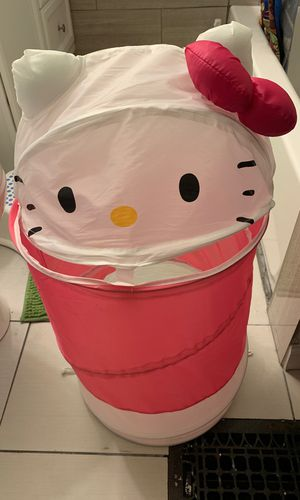 Hello kitty pop up laundry basket for Sale in Melrose, MA
