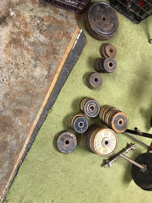 Weight bench and weights and weight bars for Sale in Lebanon, PA