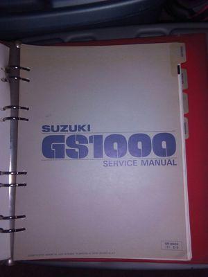 Suzuki GS1000 manual for Sale in Melrose Park, IL