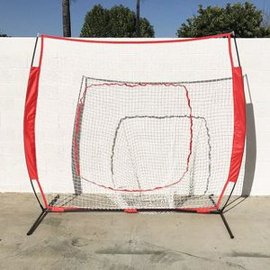 (NEW) $50 Baseball and Softball Practice Net Hitting and Pitching 7'x7' with Bow Frame for Sale in South El Monte, CA