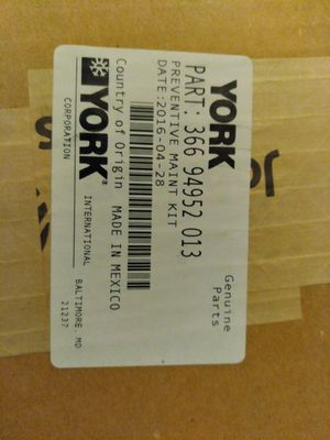 York preventive maintenance kit part number 366 94952 013 for Sale in Tacoma, WA
