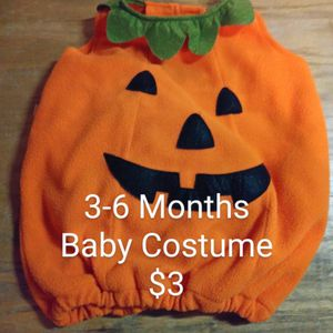 Baby 3-6 Months Pumpkin Costume for Sale in Covington, WA
