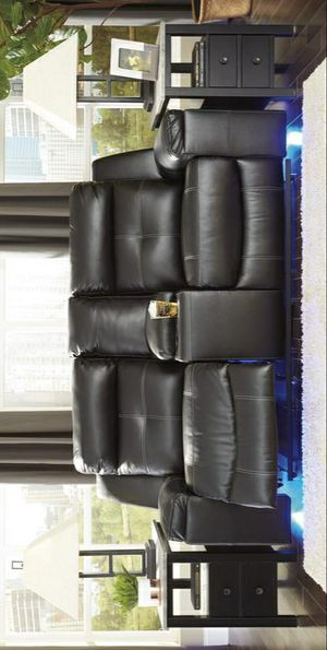 Special for Black Friday ‼ SALES Kempten Black LED Reclining Loveseat 19 for Sale in Jessup, MD