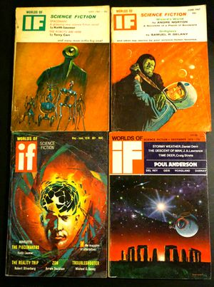 Worlds of IF science fiction magazines LOT of 4 issues 1967-1974 for Sale in Dover, FL