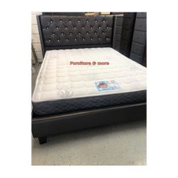 Espresso Full Size Bed Frame $285 / Queen Bed Frame $295 📦 Price With Mattress Is Different 😃 for Sale in Bellflower,  CA