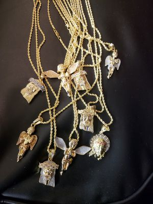 Gold plated chains with charm for Sale in Philadelphia, PA