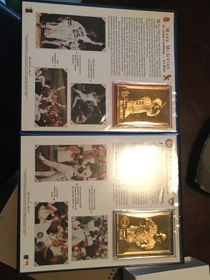 24k Barry bonds mark McGwire homer in record baseball cards for Sale in Lakewood, WA