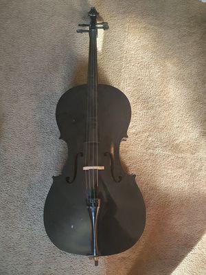 Cecilio Cello Black Full Size 4/4 with Case & Bow for Sale in La Costa, CA