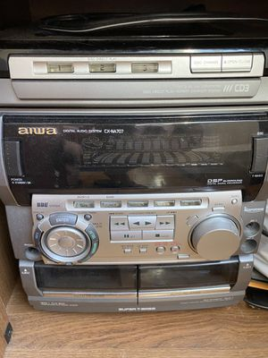Aiwa T-bass stereo speakers with Free Bluetooth adapter for Sale in Washington, DC