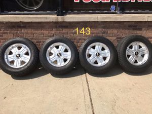 "143 18s 18 inch 18"" Chevy Gmc Stock wheels rims. GM 6 Lug 6x139.7 6x5.5. Fits Tahoe Silverado Yukon Cadillac. Matching Bridgestone Dueler A/T Tires. for Sale in Chicago, IL"