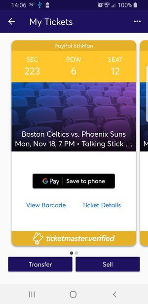 Suns V Celtics with free parking for Sale in Phoenix, AZ