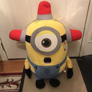 Brand new Giant fire man Minion stuffed animal plush clean despicable me movie film for Sale in Burtonsville, MD