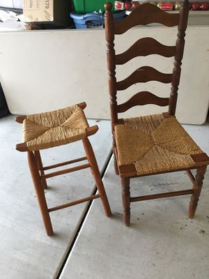Antique chair and stool for Sale in Tucson, AZ