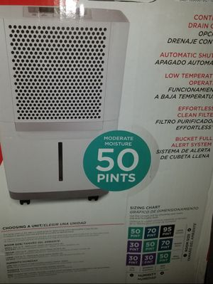 FAD504DWD Frigidaire Medium Room 50 Pint Capacity Dehumidifier for Sale in Smyrna, GA