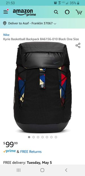Kyrie Basketball Backpack BA6156-010 Black One Size for Sale in Franklin, TN