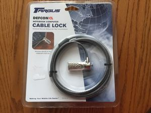 New in package ......Targus DEFCON CL Notebook Computer cable lock for Sale in Mokena, IL
