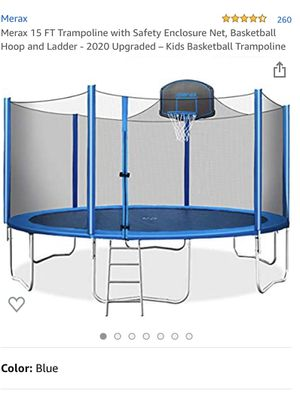 Trampoline with basketball hoop and net enclosure for Sale in Naperville, IL