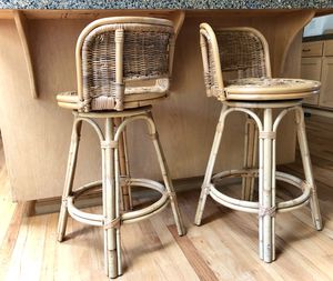 Vintage Rattan Swivel Stools for Sale in Bothell, WA