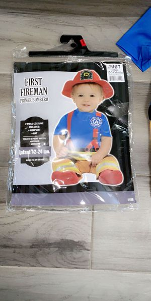 Baby fire fighter Halloween costume for Sale in Grand Terrace, CA
