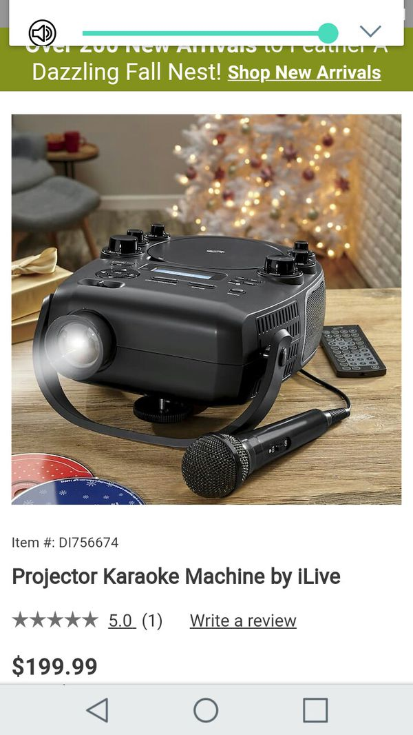 Projector Karaoke Machine