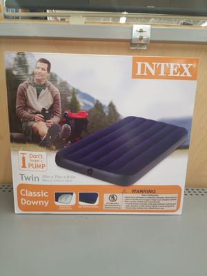 Intex Twin Size Classic Downy Inflatable Air Bed Mattress 68757WA (Blue) for Sale in Milton, PA