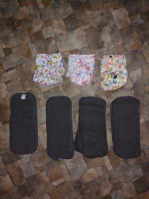Wink reusable diapers and 12 inserts for Sale in Big Stone Gap, VA