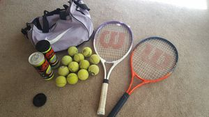 2 Tennis Rackets with balls and bag for Sale in Modesto, CA
