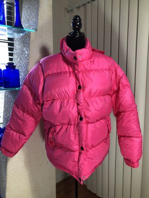 Hot pink puffer jacket. Duck down for Sale in Sarasota, FL