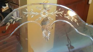 Antique beveled Edge glass centerpiece for a antique table. for Sale in Plain City, OH