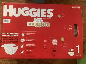 Huggins Little Snugglers Size 1 Diapers 198 pack (Unopened) for Sale in Gilbert, AZ