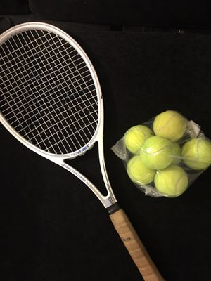 Tennis racket and balls for Sale in Mesa, AZ