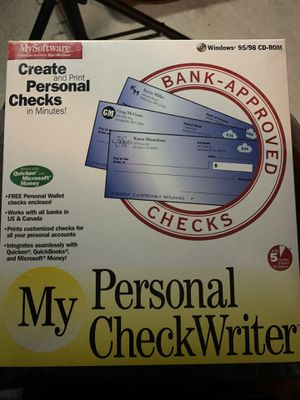 My Personal Check Writer software. Never opened for Sale in Port St. Lucie, FL