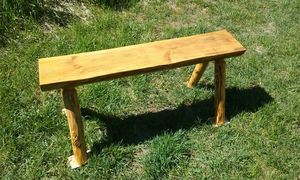 Rustic Log Bench for Sale in Leavenworth, WA
