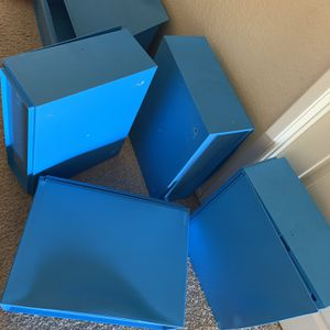 Blue Wall Plastic Storage Shelves for Sale in Riverside, CA