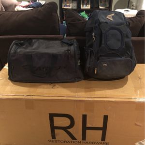 Baseball Bag And A Duffle Bag (navy) Sold Separate Or Together for Sale in San Antonio, TX