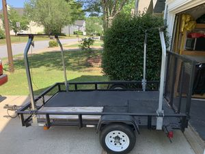 Trailer with truck ladder racks for Sale in Kennesaw, GA